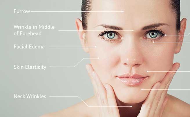 Акупунктурные точки на лице, шее и голове человека